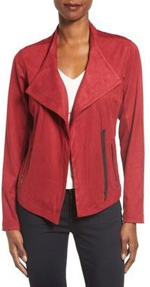 Women's Nic+Zoe Faux Suede Moto Jacket $248 thestylecure.com