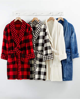 Closeout! Martha Stewart Collection Plush Robe, Created for Macy's Bedding $60 thestylecure.com