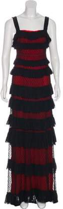 Isabel Marant Ruffled Lace Dress Black Ruffled Lace Dress