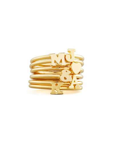 Sarah Chloe GOLD PLATED STACKABLE INITIA