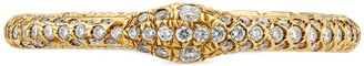 Gucci Ouroboros ring in gold and diamonds