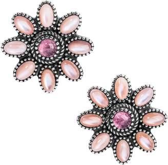 American West Floral Gemstone Earrings