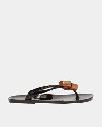 Ted Baker SUSZIE Bow detail jelly flip flops