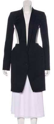 Hussein Chalayan Wool Cutout Coat