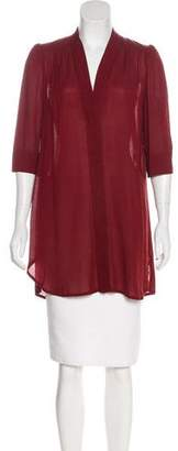 Isabel Marant Three-Quarter Sleeve V-Neck Top