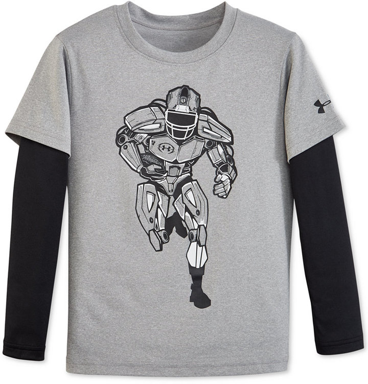 Under Armour Little Boys' Long-Sleeve Graphic T-Shirt