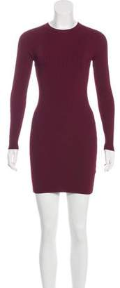A.L.C. Long Sleeve Rib Knit Dress