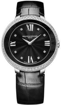 Baume & Mercier Promesse 10166 Stainless Steel& Alligator Strap Watch
