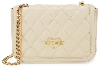 Love Moschino Quilted Faux-Leather Crossbody Bag