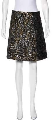 Alberta Ferretti Metallic Knee-Length Skirt