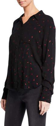 Rails Rocsi Cherry-Patterned Button-Front Shirt