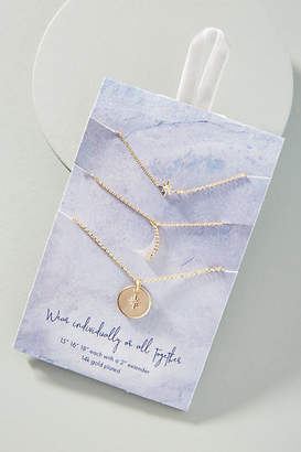 Anthropologie Celestial Necklace Set
