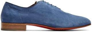 Christian Louboutin Alfred Soft Suede Derby Shoes - Mens - Blue