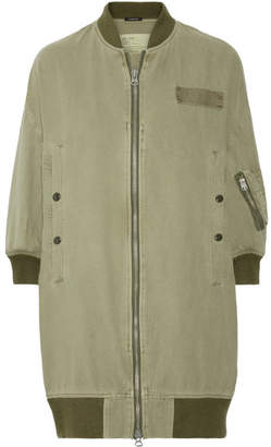 R 13 Flight Cotton And Hemp-blend Bomber Jacket - Army green