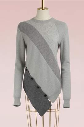 Proenza Schouler Asymmetrical wool and cashmere sweater