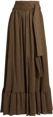 SEE BY CHLOÉ Waist-tie gathered gauze maxi skirt $265 thestylecure.com