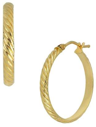 Bony Levy 14K Yellow Gold Etched 22mm Hoop Earrings