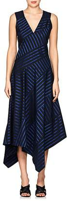 Derek Lam Women's Striped Cotton Poplin Midi-Dress