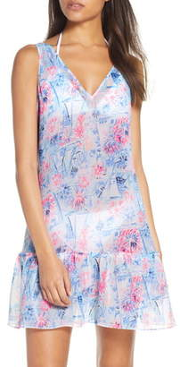 Lilly Pulitzer Saline Cover-Up Mini Dress