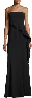 Jay Godfrey Allman Flounce Waist Asymmetric Gown