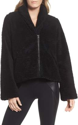 Alo Cozy Up Faux Fur Crop Jacket