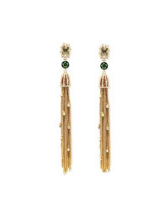 Alexis Bittar Cascading Golden Tassel Clip-On Earrings $395 thestylecure.com