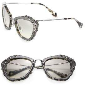 Miu MiuMiu Miu Embellished 55MM Cat's-Eye Sunglasses