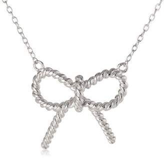 Sterling Twisted Bow Necklace