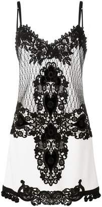 Fausto Puglisi lace slip-on dress