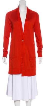 Hermes Silk-Blend Longline Cardigan