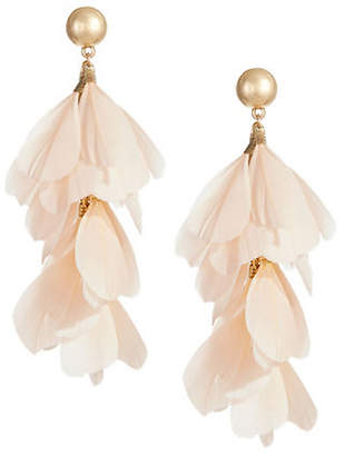 DESIGN LAB Feather Statement Earrings