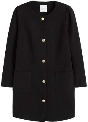 Violeta BY MANGO Buttoned cotton coat
