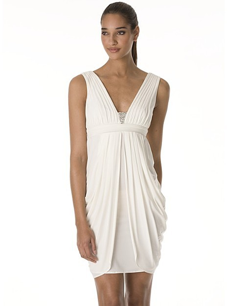 BCBGMAXAZRIA Jersey Tank Dress with Side Drapes