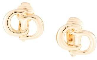 Christian Dior PRE-OWNED logo earrings