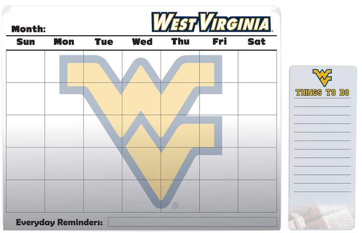Kohl's West Virginia Mountaineers Dry Erase Calendar & To-Do List Pad Set
