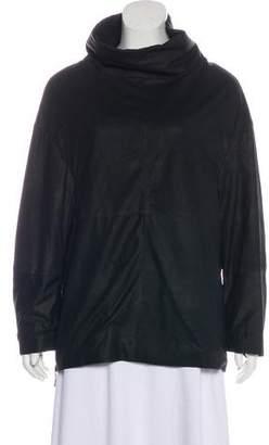Görtz Annette Leather Zip-Accented Sweatshirt