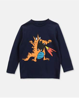Stella McCartney Dragon Cotton T-Shirt