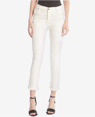 Karen Kane Frayed Hem Cropped Jeans