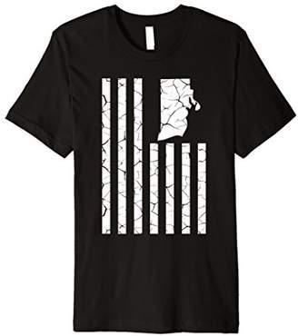Rhode Island Cracked American Flag State Pride T-Shirt