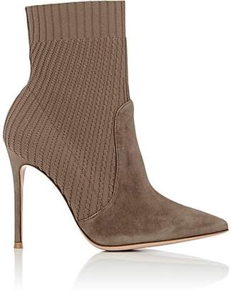 Gianvito Rossi Women's Katie Ankle Boots - Mud+Bisque