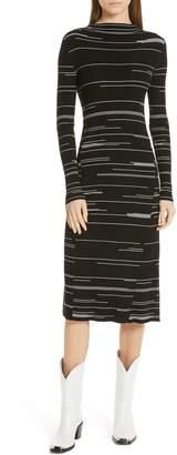 HUGO Silby Stripe Sweater Dress