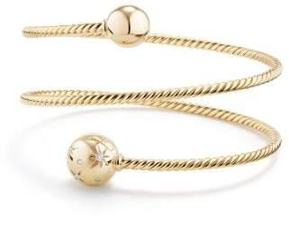 David Yurman Solari Coil Bracelet With Diamonds In 18K Gold