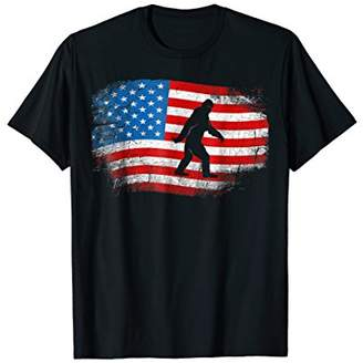 Sasquatch T-Shirt Believe America 4th July Bigfoot Yeti 2018