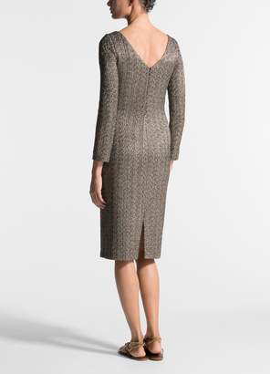 St. John Golden Knit Bateau Neck Dress