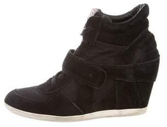 Ash Suede Wedge Sneakers