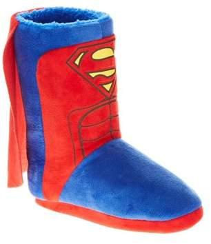 Superman Toddler Boy's Caped Slipper