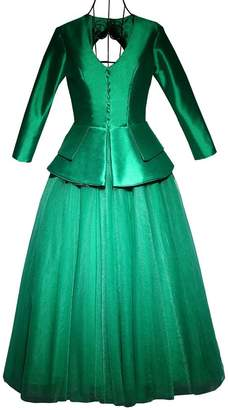 YSFS Women's Long Sleeve Satin Tulle Mother of Bride Dresses Evening Dresses US