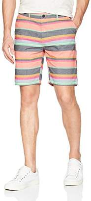 Scotch & Soda Men's Chino Short with Bright Stripe Pattern
