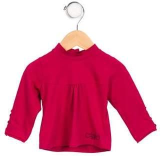 Catimini Infant Girls' Long Sleeve Mock Neck Top w/ Tags