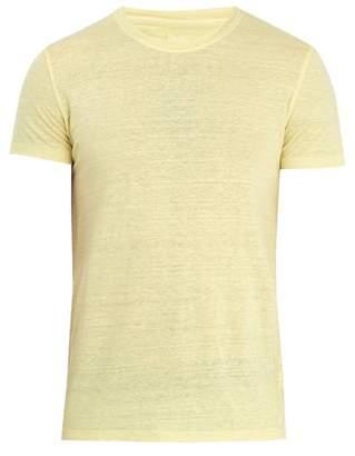 120% Lino Crew-neck linen-jersey T-shirt